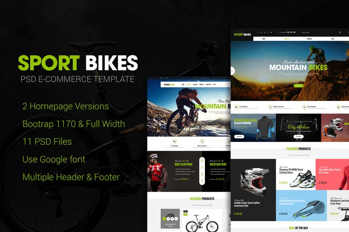 Thumbnail for Sportbike - Multipurpose eCommerce PSD Template