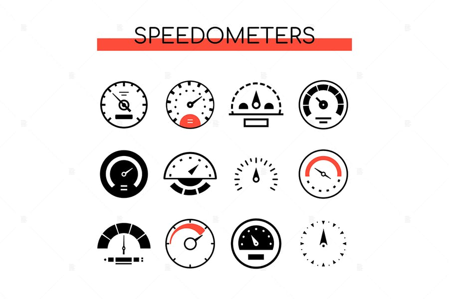 Different speedometers collection