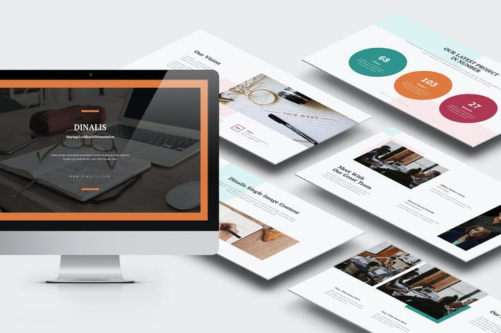 Thumbnail for Dinalis: Startup Business Plan Keynote
