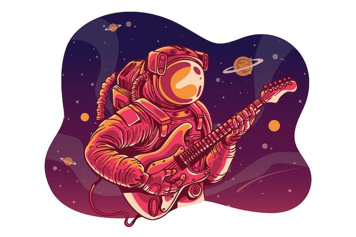 ASTRONOUT GUITAR - Illustration
