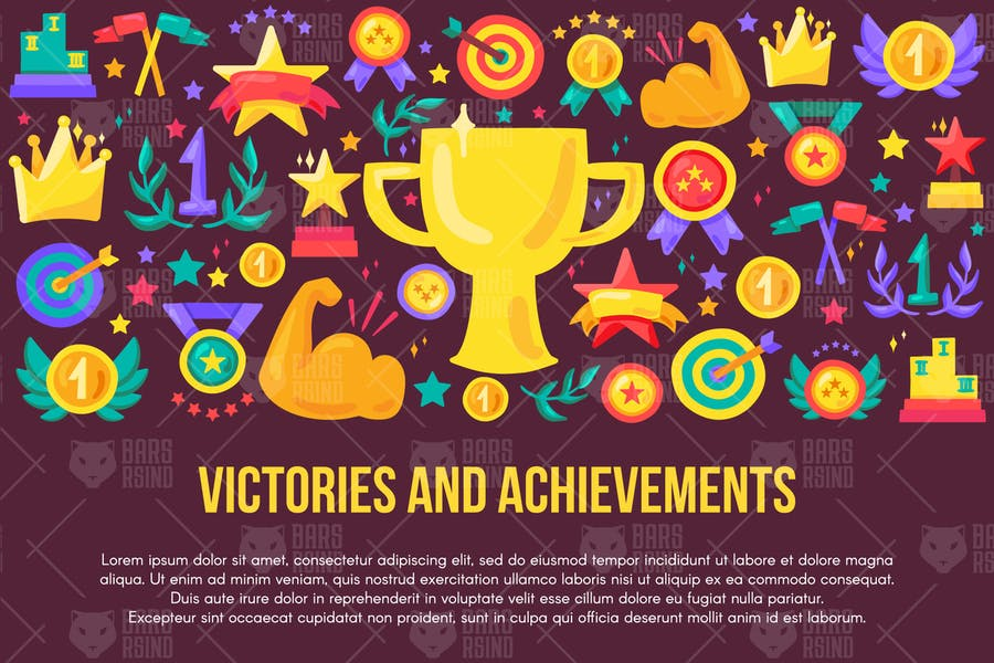 Victories And Achievements Banner