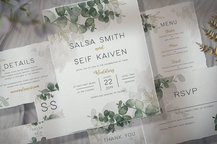 Thumbnail for Foliage Wedding Invitation