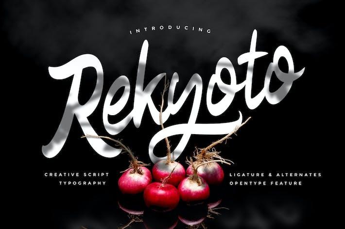 Thumbnail for Rekyoto | Delicious Script Font