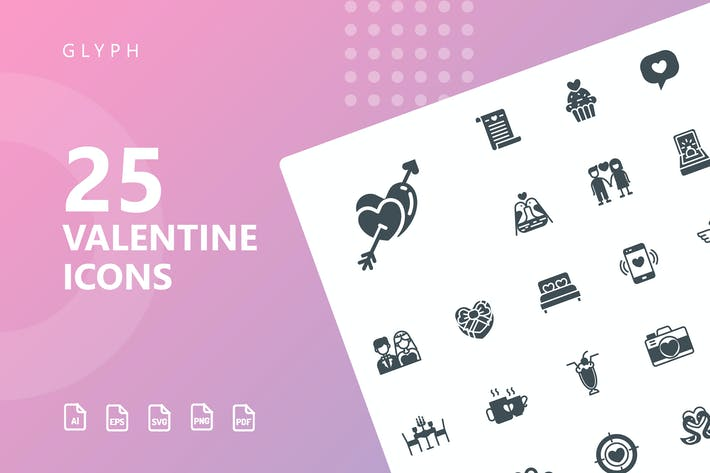 Thumbnail for Valentine Glyph Icons