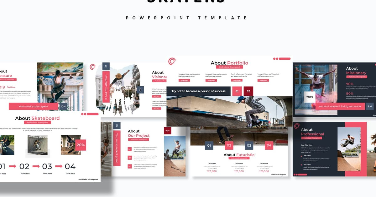 Download Skaters - Powerpoint Template by aqrstudio