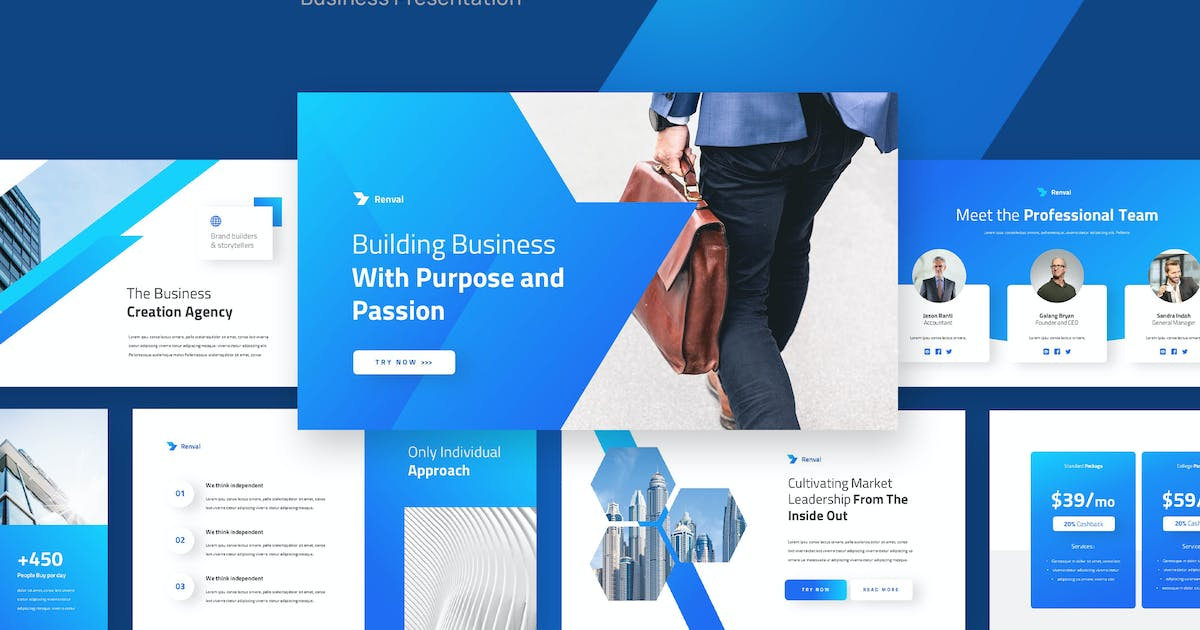 Download RENVAL - Business Marketing Keynote Template by rgbryand