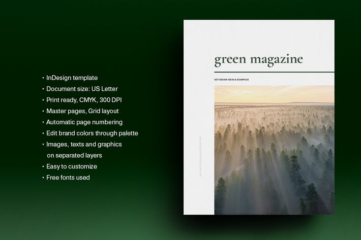 Thumbnail for Green Natural Magazine Template