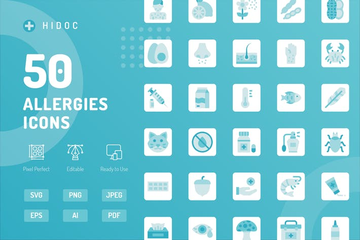 Thumbnail for Hidoc - Allergies Icons