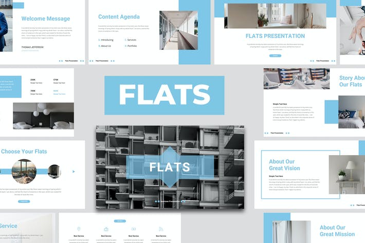 Thumbnail for Flats - Business Apartment PowerPoint Template