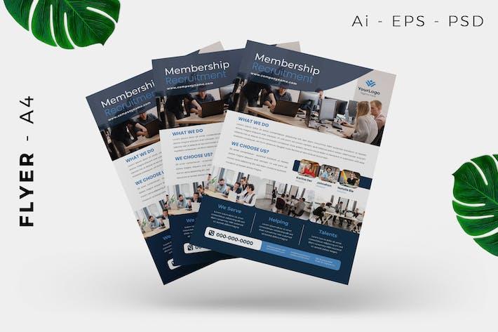 Thumbnail for Mitgliedschaft Recruitmet Flyer Design