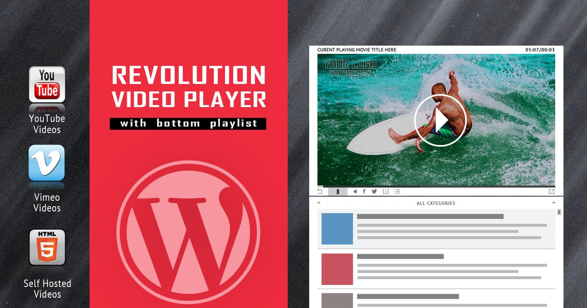 Download Revolution Video Player With Bottom Playlist by LambertGroup