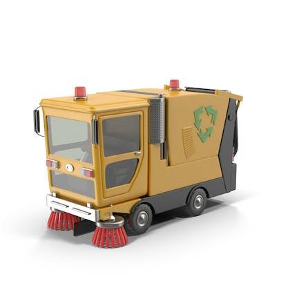Cartoon Straßenkehrmaschine