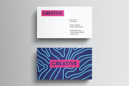 Minimal magenta business card template