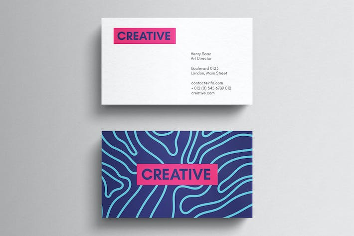 Thumbnail for Minimal magenta business card template