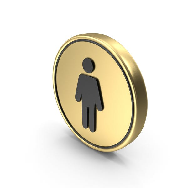 Мужской символ монета Логотип значок