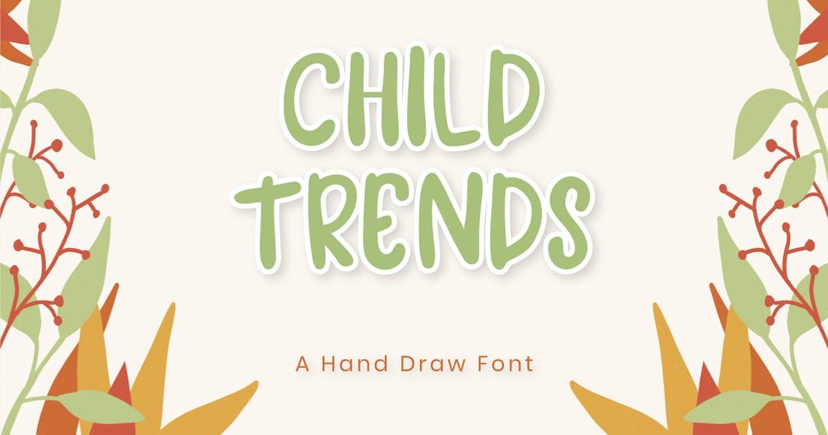Download Child Tren - Display Font by axelartstudio
