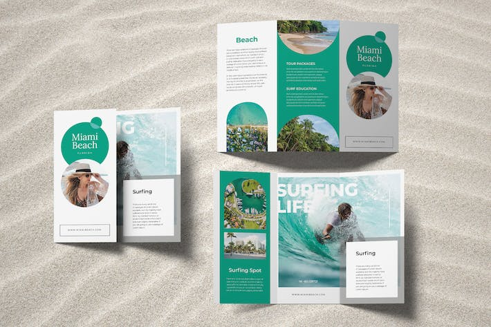 Thumbnail for Surfing Beach Trifold Brochure
