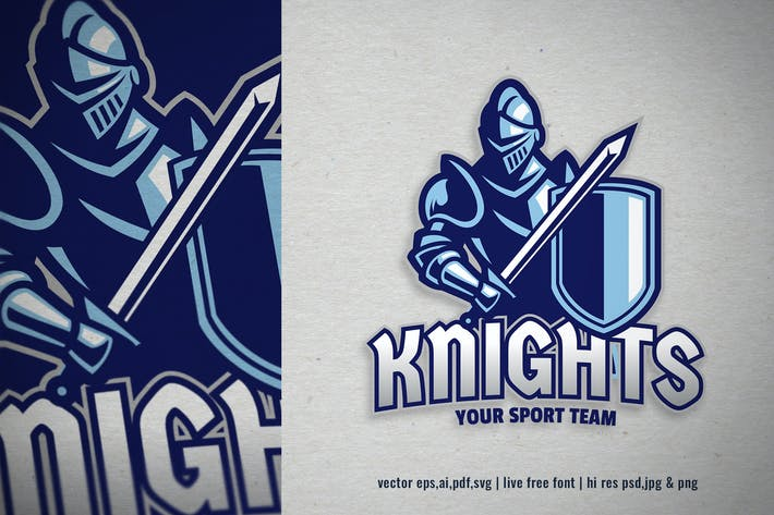 Thumbnail for knight in armor for sport and esport logo