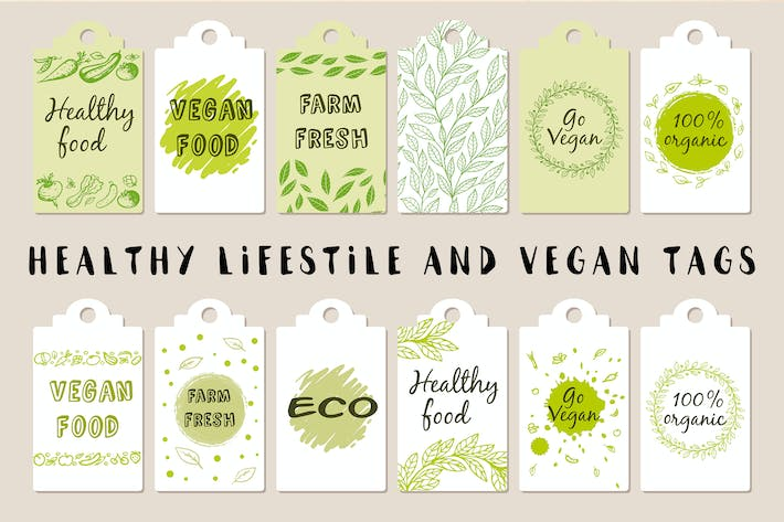 Thumbnail for Etiquetas veganas y Estilo de vida saludable