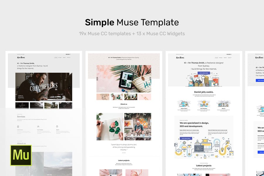 Simple - Creative Portfolio Muse Template - product preview 0