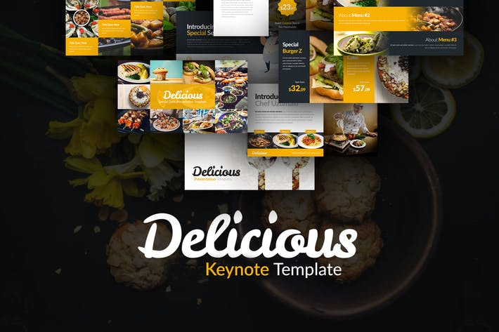 Thumbnail for Delicious Keynote Presentation Template