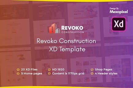 Revoko - Construction Website in Adobe XD Template