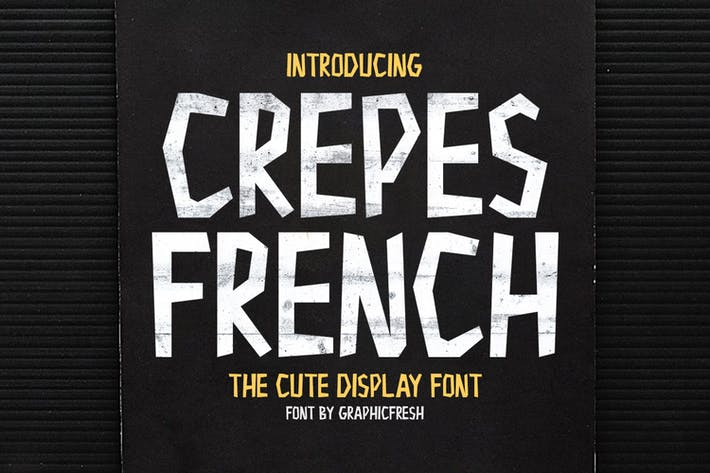 Thumbnail for Crepes - The Cute Display Font