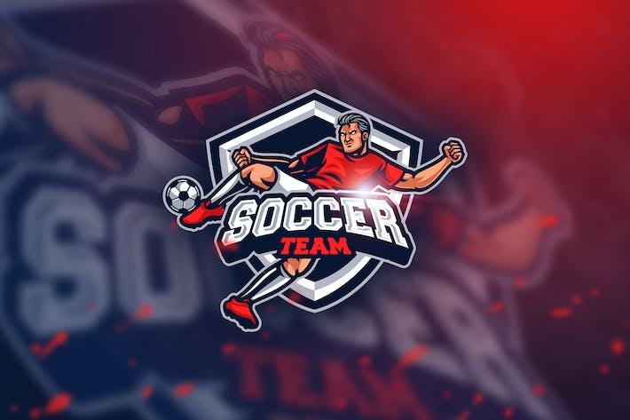 Cover Image For Soccer Fc- Mascot & Esport Logo