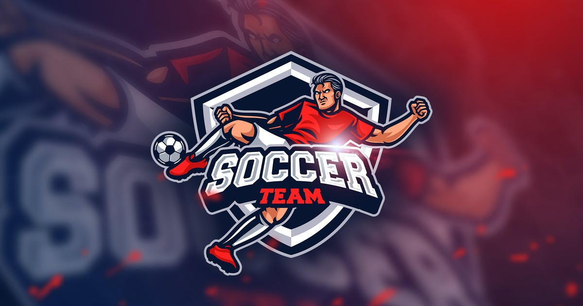 Soccer Fc- Mascot & Esport Logo by aqrstudio