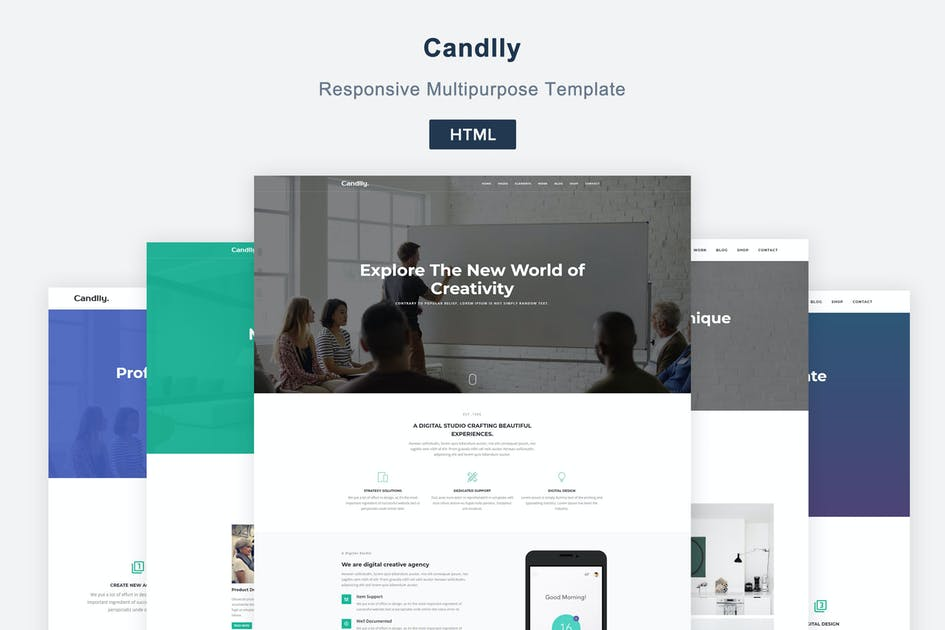 Download Candlly - Responsive Multipurpose Template by coderthemes