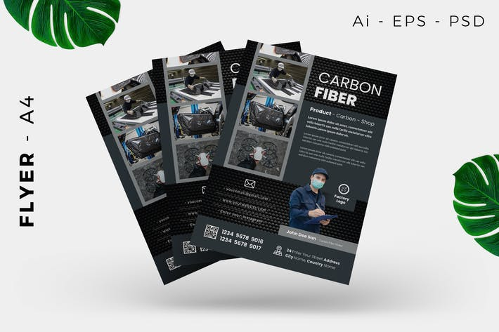Thumbnail for Carbon / Metal Product Flyer Design