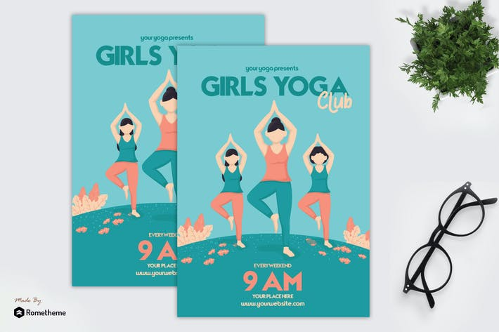 Thumbnail for Girls Yoga Club - Flyer GR