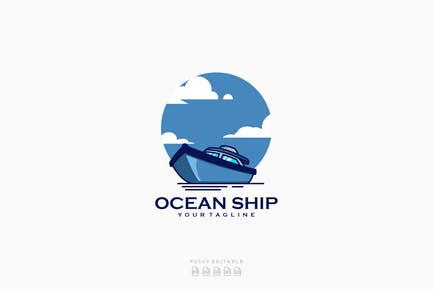 Ocean Ship Logo Template