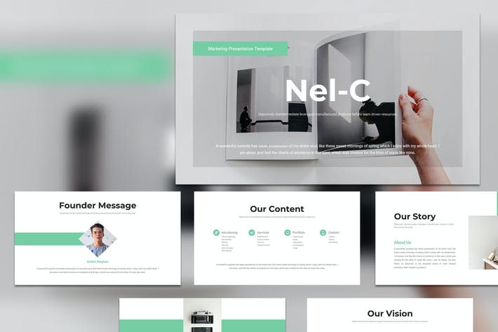 Cover Image For Nel-C - Business Marketing PowerPoint Template