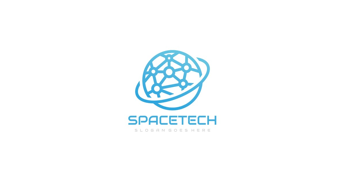 Download Space Technology Logo Design by 3ab2ou