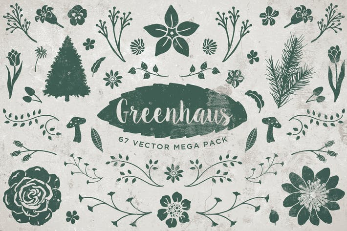 Thumbnail for Greenhaus Floral Vector Pack Volume 1
