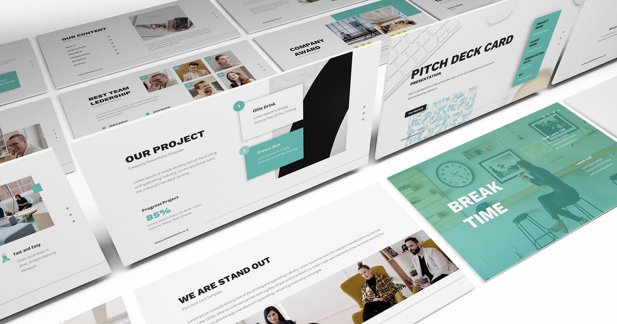 Download Pitch Deck Powerpoint Template by giantdesign