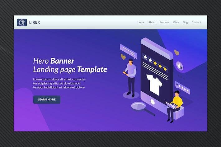 Lirex - Hero Banner Template