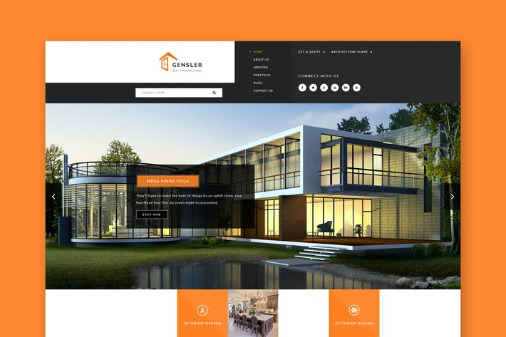 Thumbnail for Gensler - Architecture & Construction PSD Template