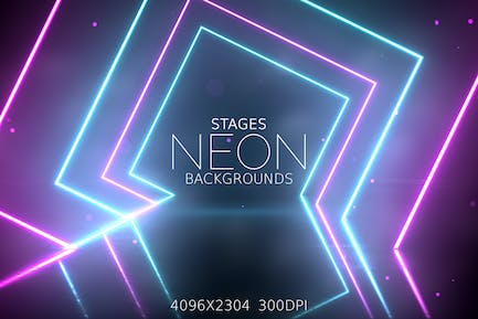 Neon Light Stages Backgrounds