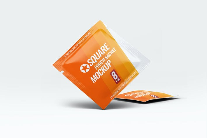 Thumbnail for Square Pouch Sachet Mock-Up