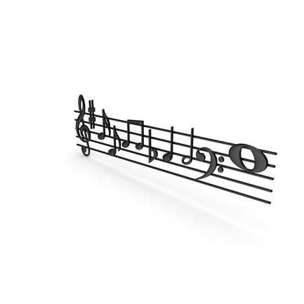 Plastic Music Stave and Notes
