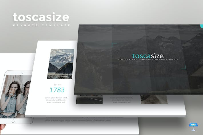 Cover Image For Toscasize - Keynote Template