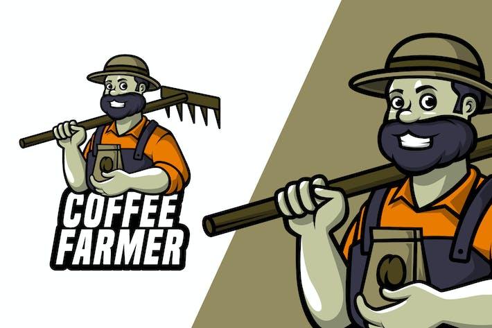 Coffee Farmer - Mascot Logo Template