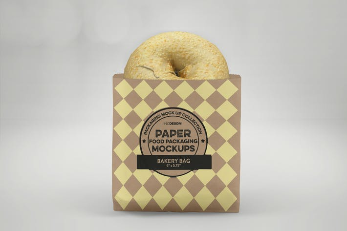 Thumbnail for Flat Bakery Bag Packaging Mockup
