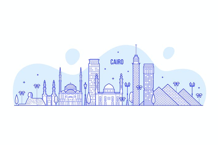 Thumbnail for Cairo skyline, Egypt