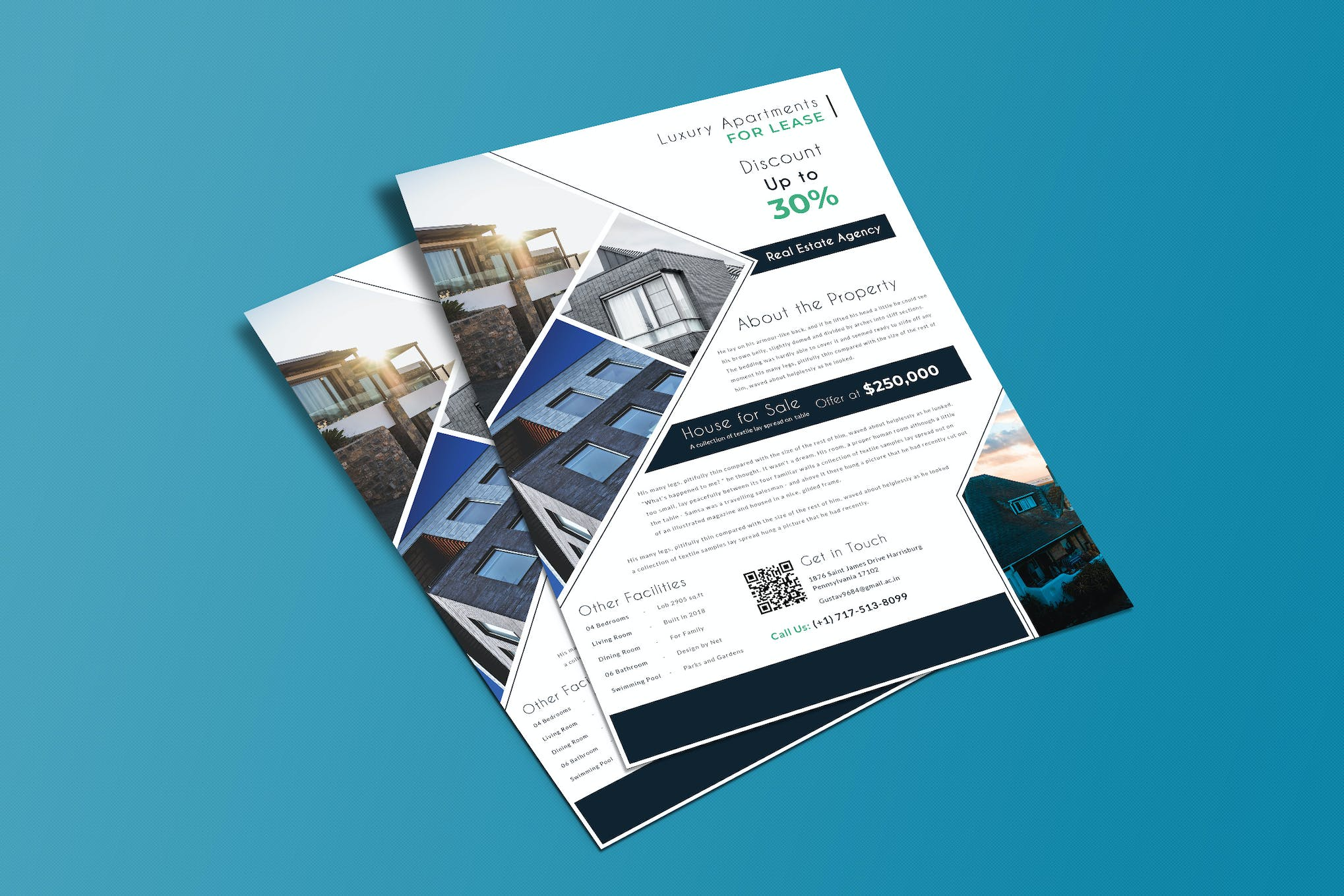 Real Estate Flyer by LeafLove on Envato Elements