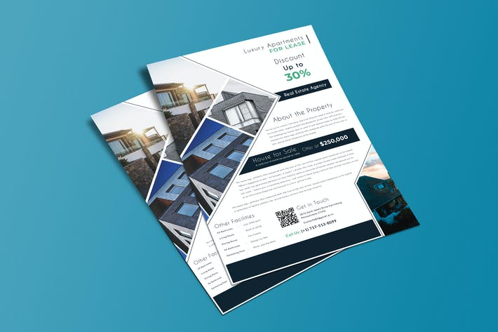 Commercial Real Estate Property - Flyer Template01 by Wutip