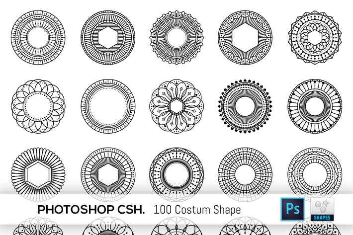 Thumbnail for 100 Geometric Costum Shapes - CSH