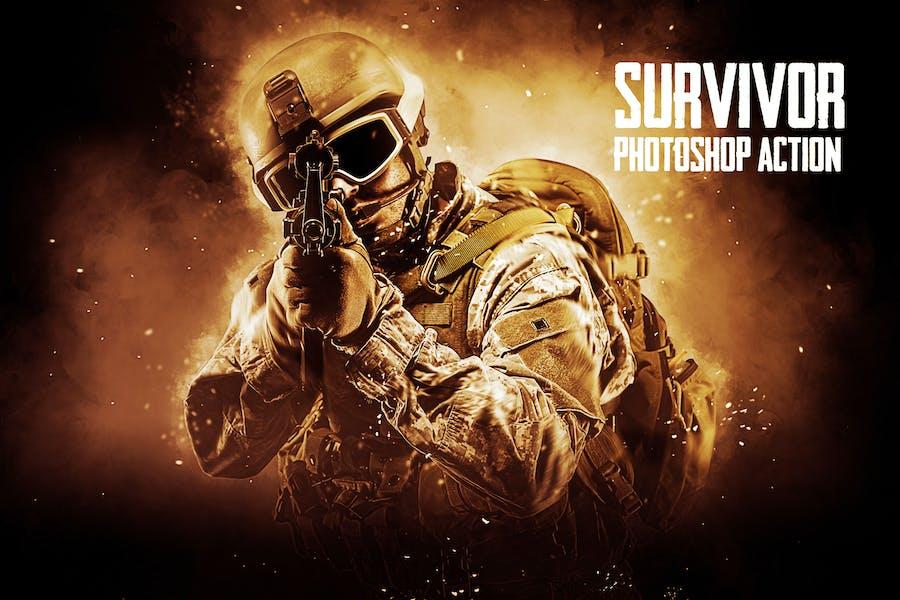 Survivor Photoshop Action